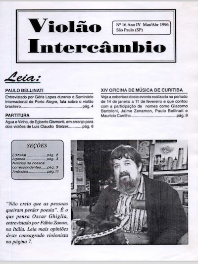 Revista Violão Intercâmbio - n 16 ano IV - mar/abr 1996