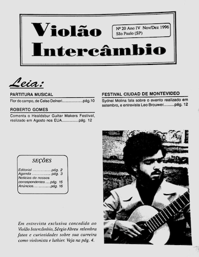 Revista Violão Intercâmbio - n 20 ano IV - nov/dez 1996