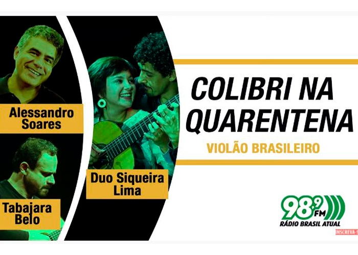 Capa do vídeo Colibri na Quarentena - 14.09.2020 - Violão Brasileiro