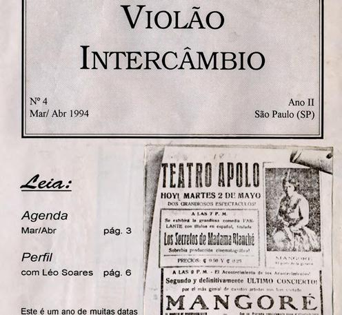 Revista Violão Intercâmbio - n 4 ano II - mar/abr 1994