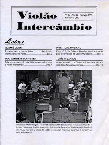 Revista Violão Intercâmbio - n 12 ano III - jul/ago 1995