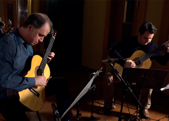 Capa do vídeo Fernando Araújo e Celso Faria | Lundu para dois violões | Manuscritos de Buenos Aires | Selo Sesc