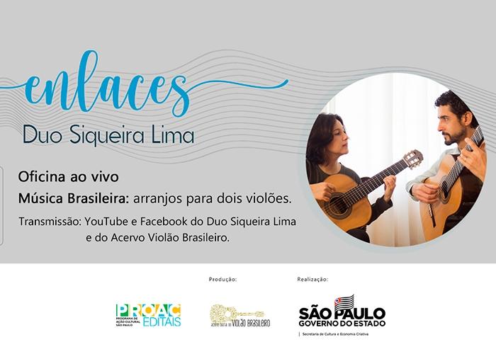 Capa do vídeo DUO SIQUEIRA LIMA - ENLACES - Música Brasileira arranjo para dois violões
