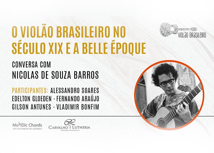 Capa do vídeo LIVE - O Violão Brasileiro do Século XIX e a Belle Époque