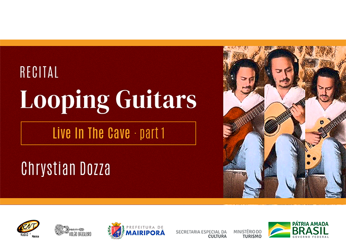 Capa do vídeo Chrystian Dozza - Recital Looping Guitars - Live In The Cave Part 1