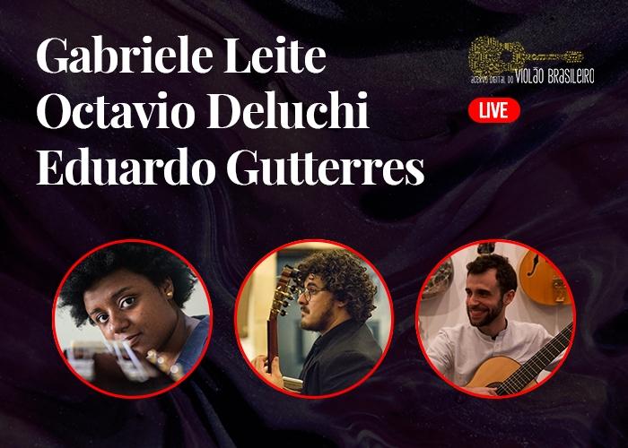 Capa do vídeo O violão brasileiro em Nova York - Gabriele Leite, Octavio Deluchi e Eduardo Gutterres