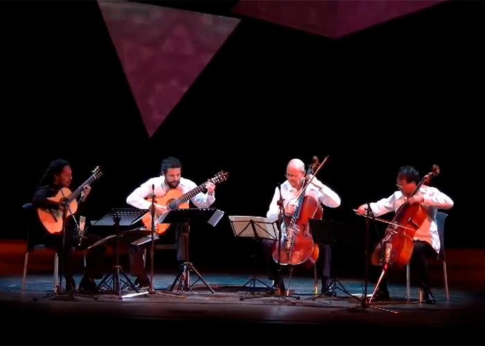 Capa do vídeo El arco y la lira - Yo-Yo Ma, Carlos Prieto & Brasil Guitar Duo in Cuba