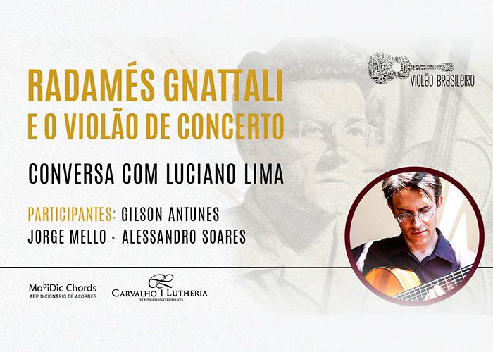 Capa do vídeo Radamés Gnattali e o violão de Concerto - LIVE