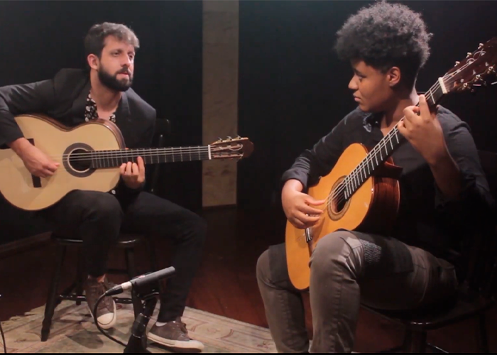 Capa do vídeo Waldir Junior e Gabriele Leite - Suite Troileana_Zita (Astor Piazzolla) - Violão Brasileiro