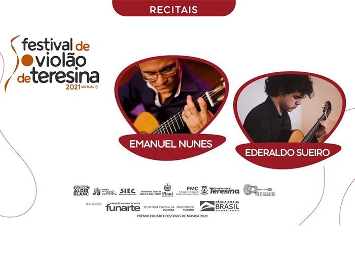 Capa do vídeo Emanuel Nunes e Ederaldo Sueiro - Recitais IV Festival de Violão de Teresina