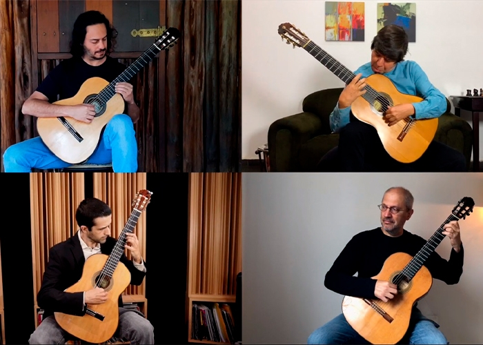 Capa do vídeo Carlo's Dance | Paulo Bellinati | Quaternaglia Guitar Quartet