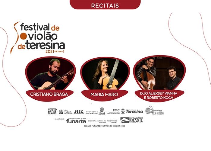 Capa do vídeo Cristiano Braga, Maria Haro, Alieksey Vianna e R Koch - Recitais IV Festival de Violão de Teresina