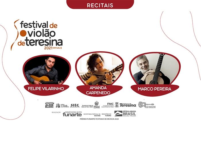 Capa do vídeo Marco Pereira, Amanda Carpenedo e Felipe Vilarinho - Recitais IV Festival de Violão de Teresina