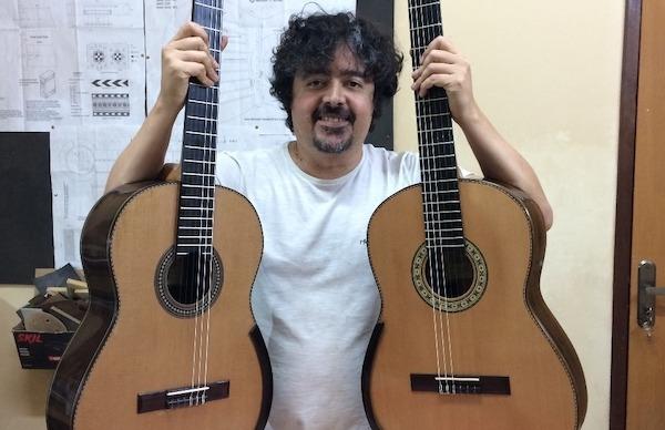 Luthier Cleyton Fernandes cria violão modelo Studio