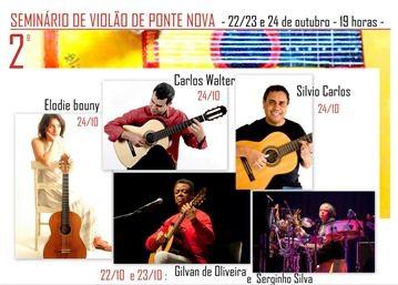 Começa nesta quinta (22) o II Seminário de Violão de Ponte Nova, em Minas
