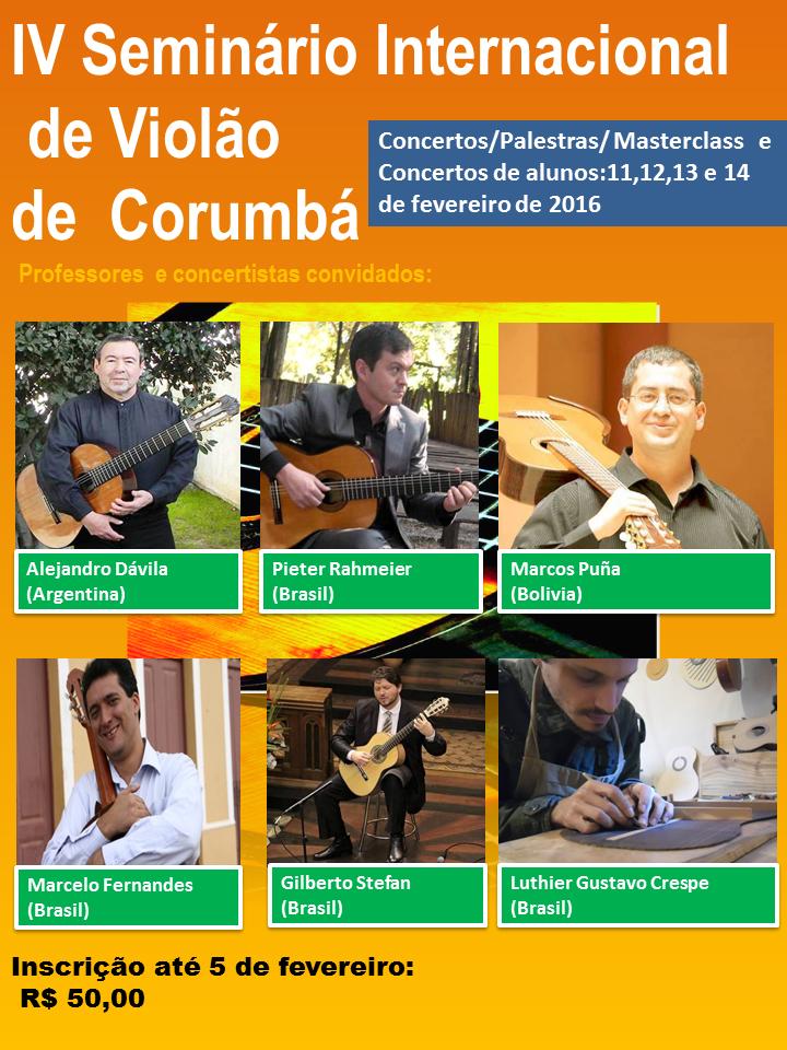 IV Seminário de Violão de Corumbá tem intensa programação até domingo (14)