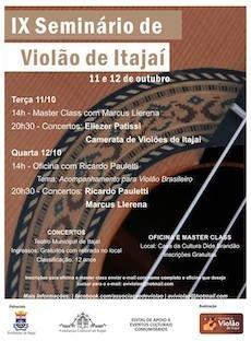 IX Seminário de Violão de Itajaí começa nesta terça-feira (11)