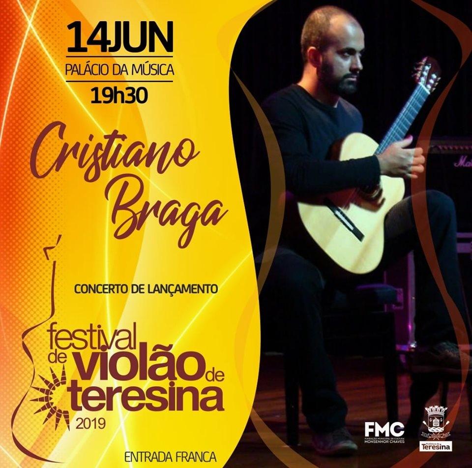 Programação do Festival de Violão de Teresina será lançada na sexta-feira (14/06)