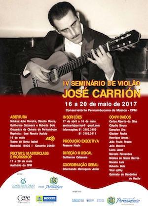 Maratona de recitais e diversidade musical marcam IV Seminário de Violão José Carrión no Recife