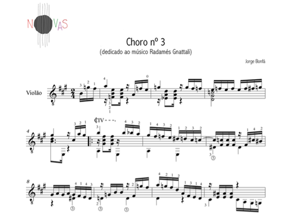 Choro nº 3 (Jorge Bonfá) - partitura violão solo