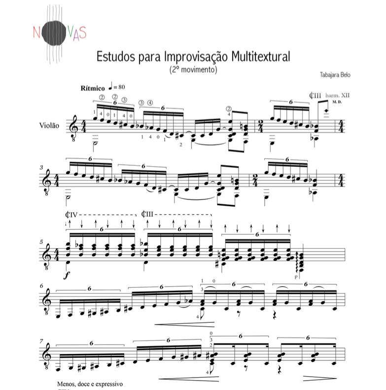 Estudos para Improvisação Multitextural (Tabajara Belo) - Violão Solo