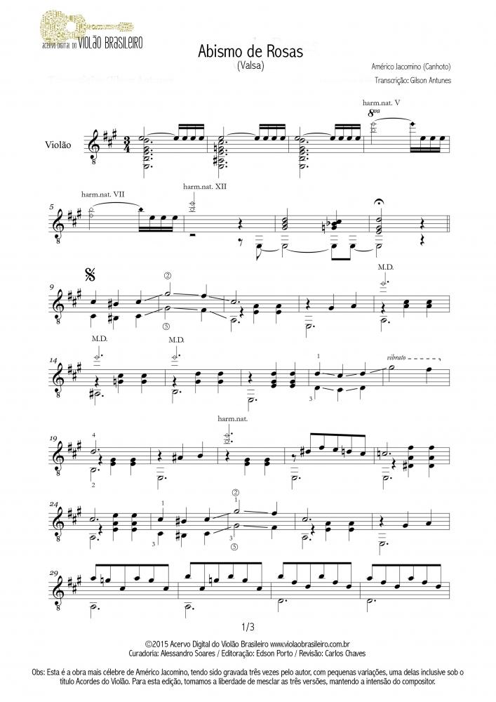 Abismo de Rosas (Américo Jacomino) - violão solo
