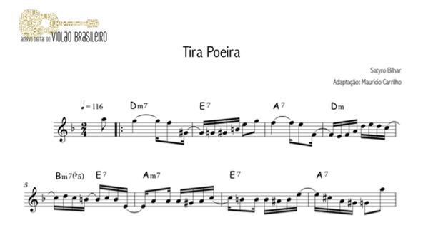 Tira Poeira (Satyro Bilhar) - partitura melodia e cifra - adaptação: Maurício Carrilho
