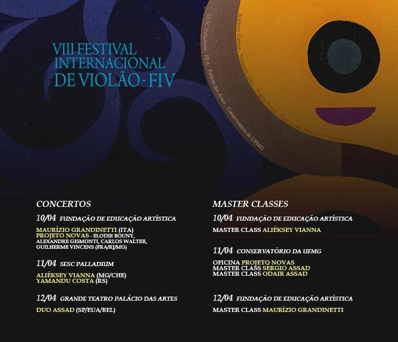 Festival de Violão de BH mostra trabalhos inéditos e recitais com oito atrações