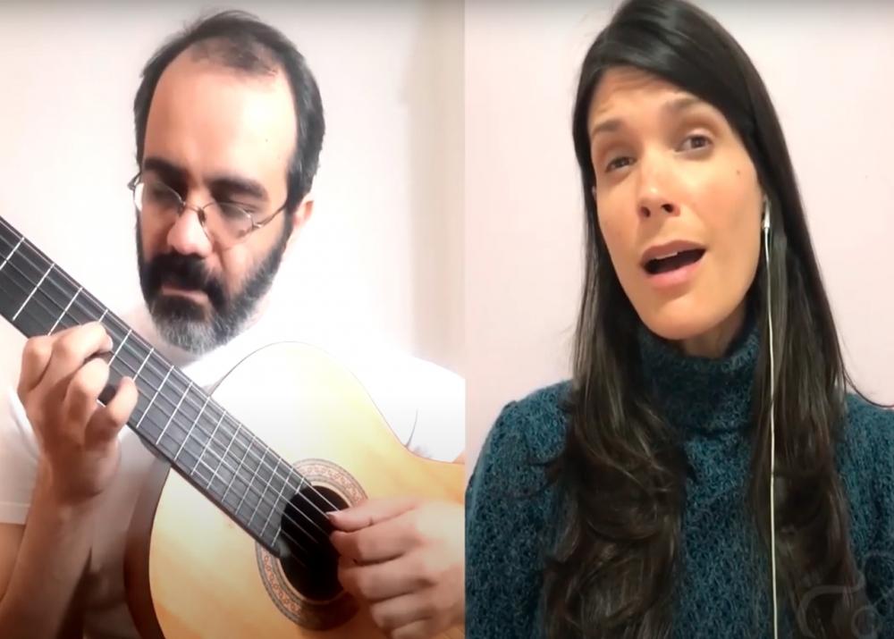 Capa do vídeo Rafael Pansica e Maíra Manga - Se Eu Quiser Falar com Deus (Gilberto Gil)