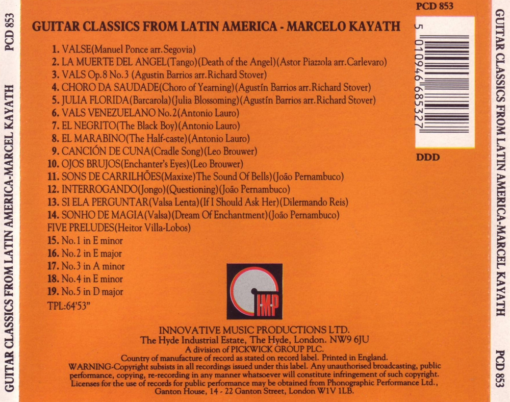 Marcelo Kayath - Guitar Classics From Latin America