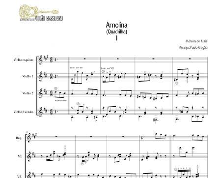 Arnolina (Moreira de Assis) - quarteto de violões - arranjo Paulo Aragão (Maogani)