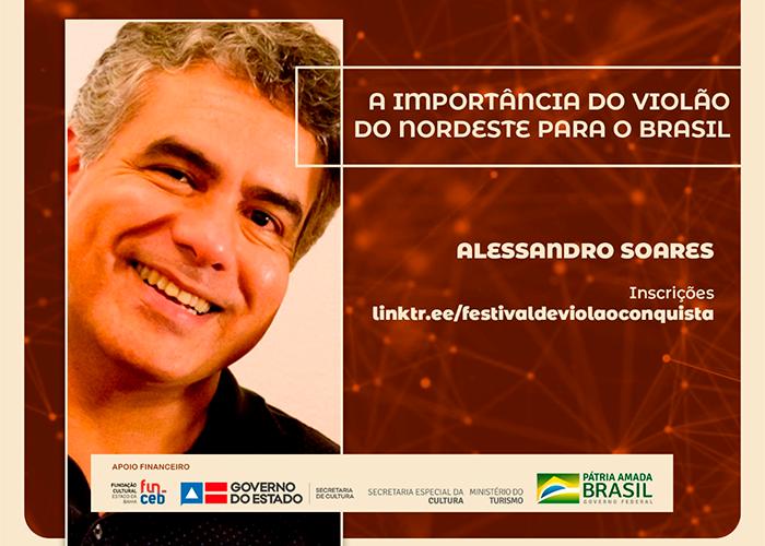 Capa do vídeo Workshop com Alessandro Soares - A importância do Violão do Nordeste para o Brasil
